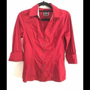 Express button up dress shirt long sleeve